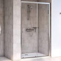 Aqualux Shine 6 Sliding Shower Door Polished Silver 1600 x 1900mm