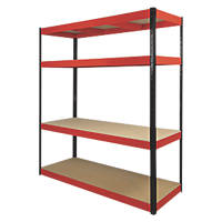 RB Boss Powder-Coated Boltless Freestanding Shelving 4-Tier