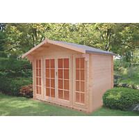 Shire Churston Log Cabin 2.9 x 2.9m