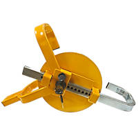 "Streetwize Full-Face Wheel Clamp 8""-10"" Yellow"