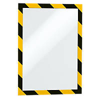 Durable Self-Adhesive Security Frame Yellow / Black 327 x 250mm 2 Pack