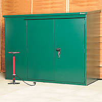 Asgard Addition All-Metal Bike Store with Assembly Green 1.8 x 0.9m