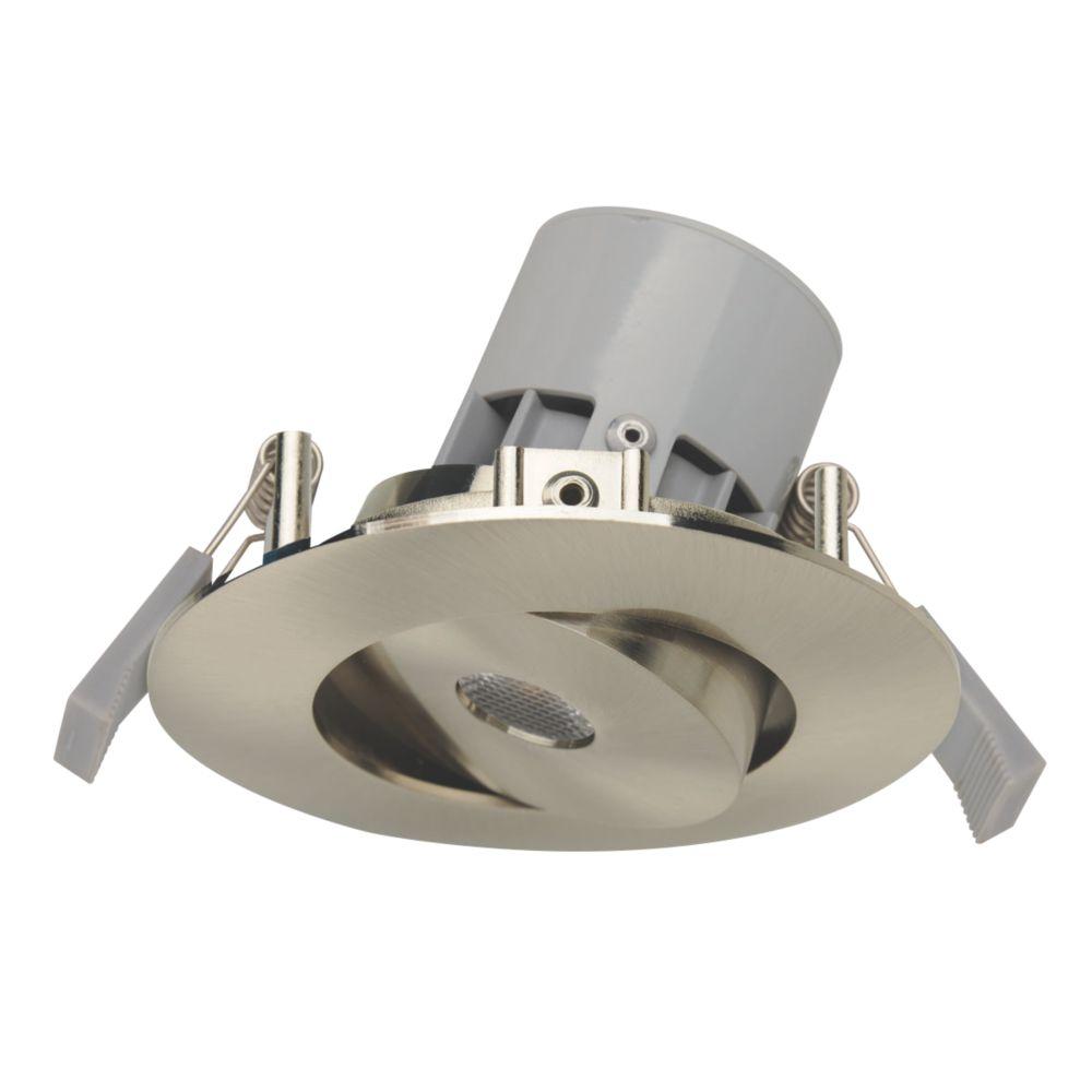 LAP Adjustable Round LED Downlight Brushed Chrome 240V
