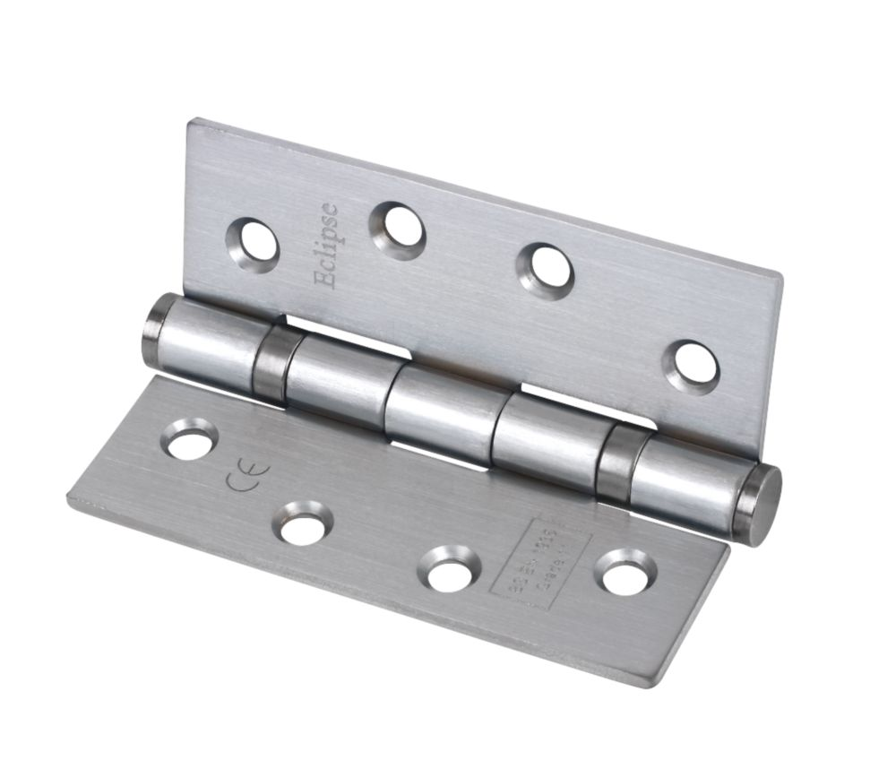 Grade 11 Ball Bearing Hinge Satin Chrome 102 x 76mm Pack of 3