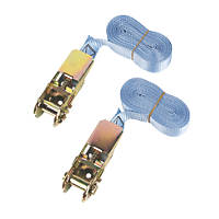 Ratchet Tie-Down Straps 5m x 25mm 2 Pack