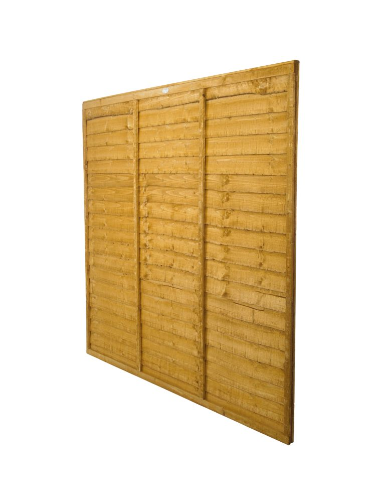 Forest Larchlap Traditional Overlap Fence Panels 1.8 x 1.8m Pack of 6