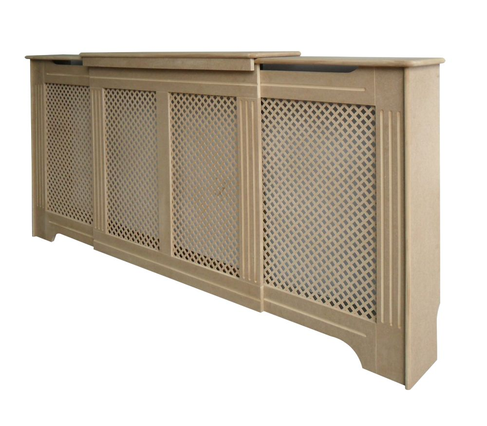 Victorian MDF Adjustable Radiator Cabinet 1425-1995 x 235 x 936mm
