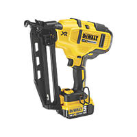 DeWalt DCN660P2-GB 5.0Ah Li-Ion XR 63mm Second Fix Nailer 18V