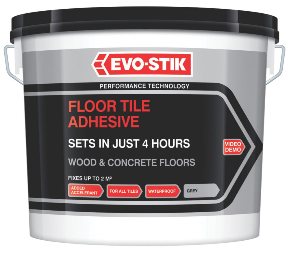 Evo-Stik Fast Set Floor Tile Adhesive 5Ltr