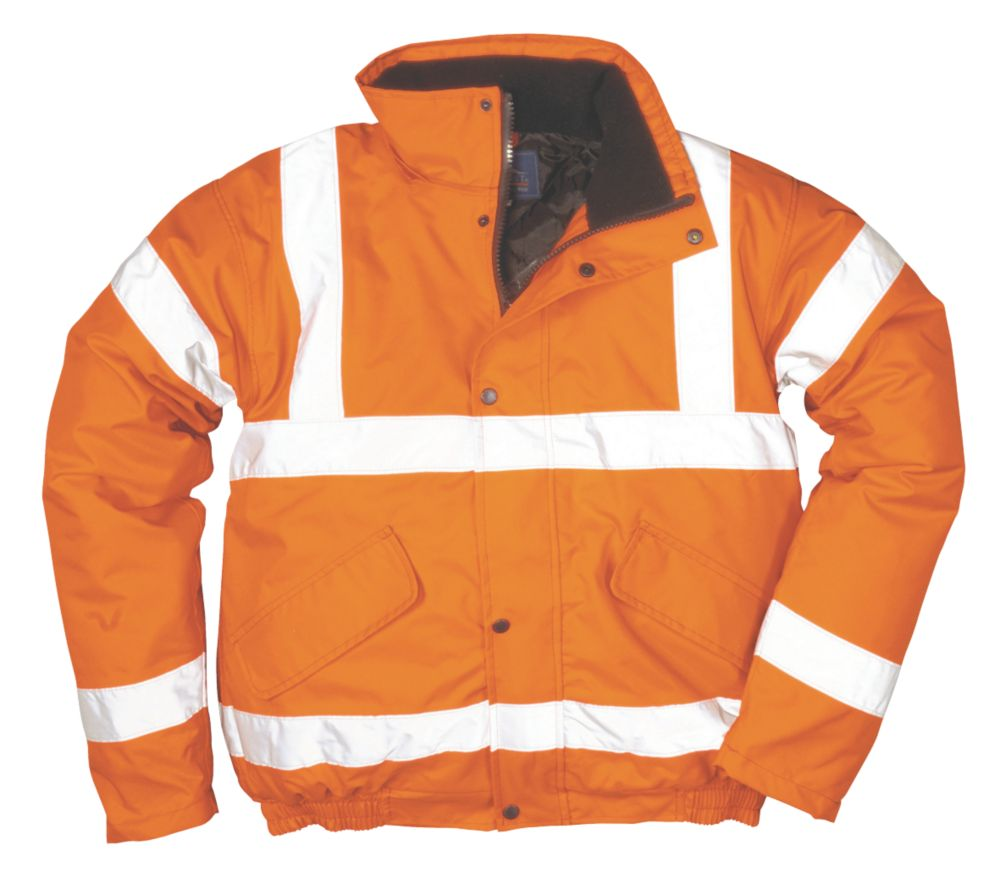 "Hi-Vis Bomber Jacket Orange Large 42-44"" Chest"