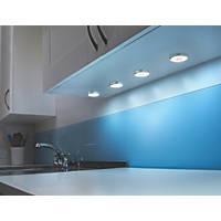 LAP Circo Disk LED Cabinet Downlight Chrome Effect 4 Pack