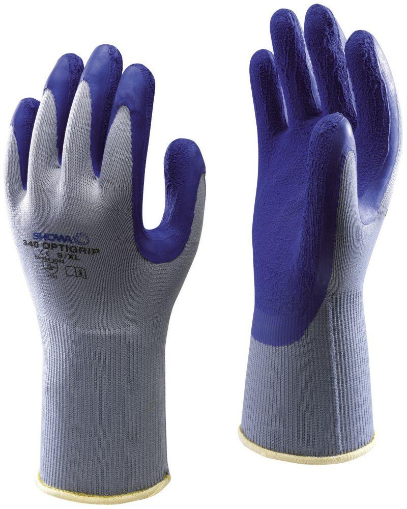 Showa Best 340 Opti-Grip Landscaping & Gardening Gloves Blue Medium