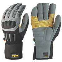 Snickers Grip Performance Gloves Grey/Black Large
