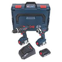 Bosch GSB18-GDR 18V 1.5Ah Li-Ion    Twin Pack Combi Drill & Impact Driver
