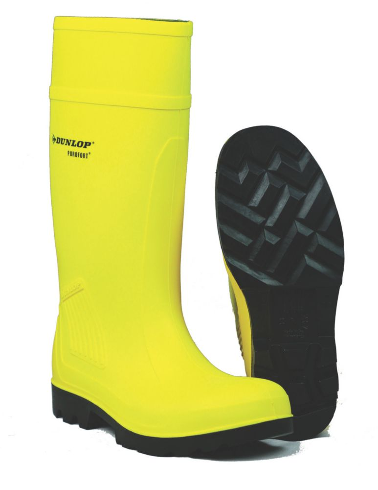 Dunlop C462241 Purofort Full Safety Standard Wellington Size 10
