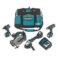 Makita DLX4089TX1 18V 5.0Ah Li-Ion LXT Brushless 4-Piece Power Tool Kit