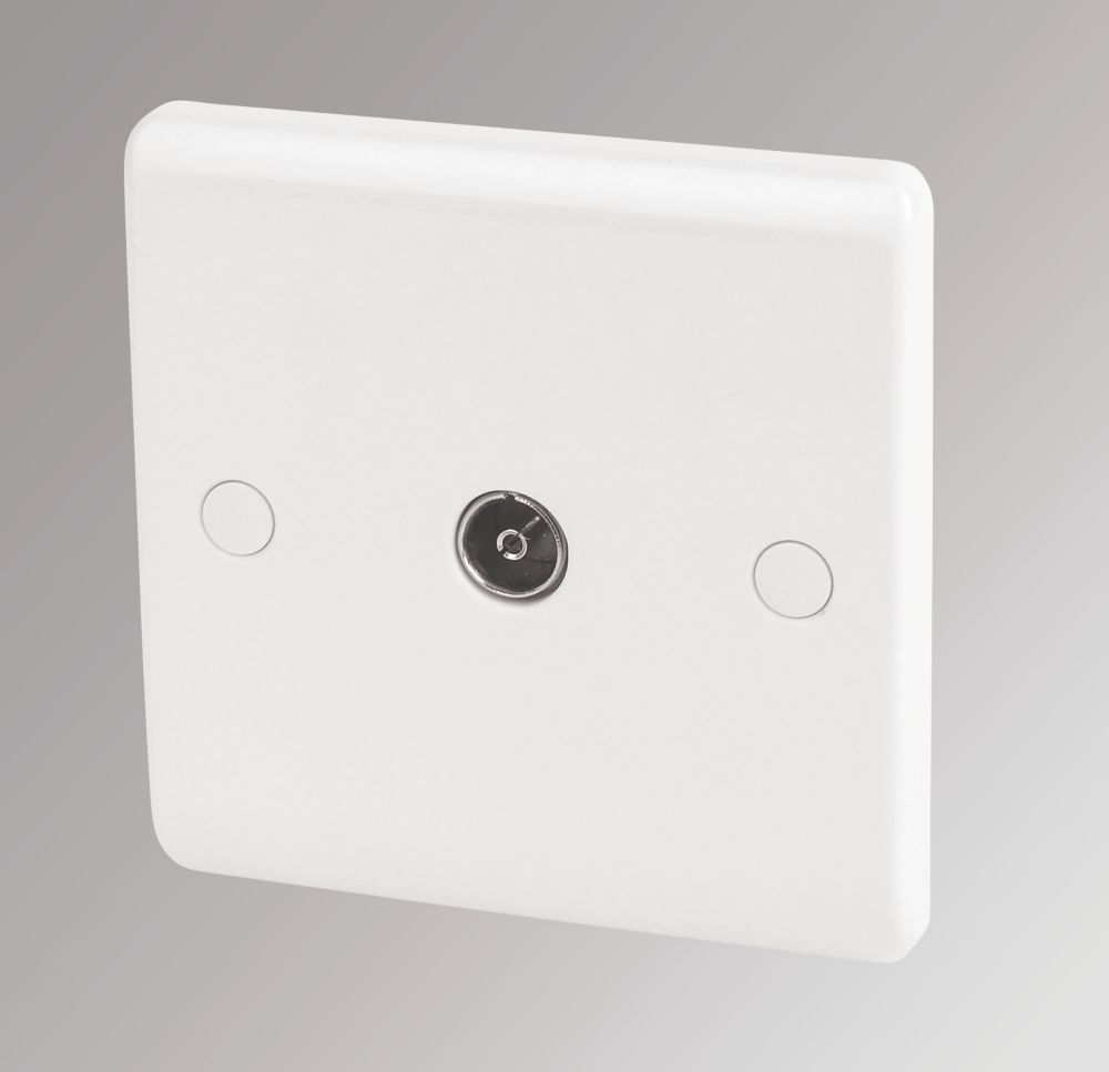 LAP 1-Gang Coaxial Socket White