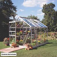 Halls Popular Greenhouse Aluminium Toughened Glass 6' x 8''