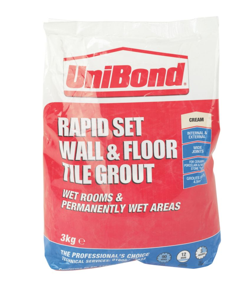 UniBond Wall & Floor Grout Cream 3kg