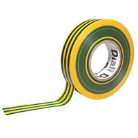 Diall 510 Insulating Tape Green / Yellow 19mm x 33m