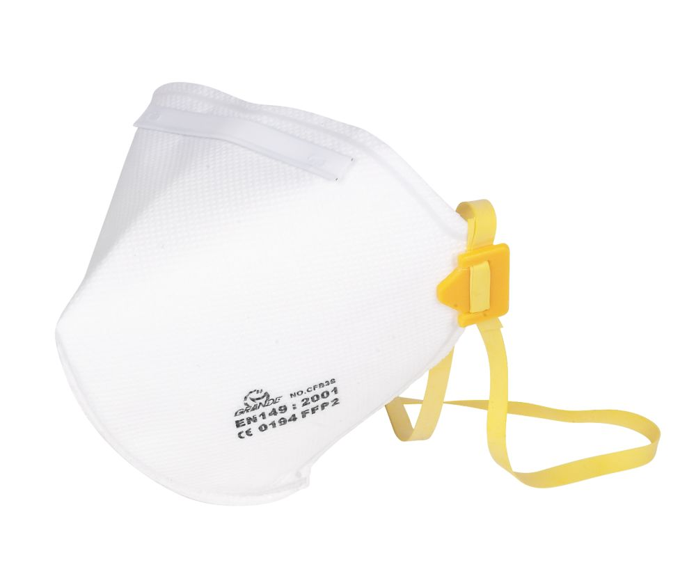 Fold Flat Dust Mask FFP2 Pk2