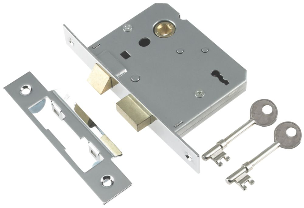 "Century 3-Lever Mortice Sashlock Chrome Plated 2.5"" / 64mm"