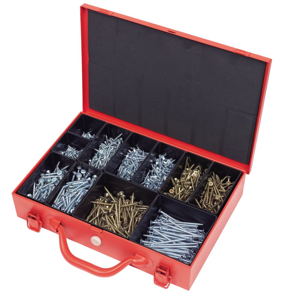 Fischer Power-Fast Screws Trade Case 1350Pieces