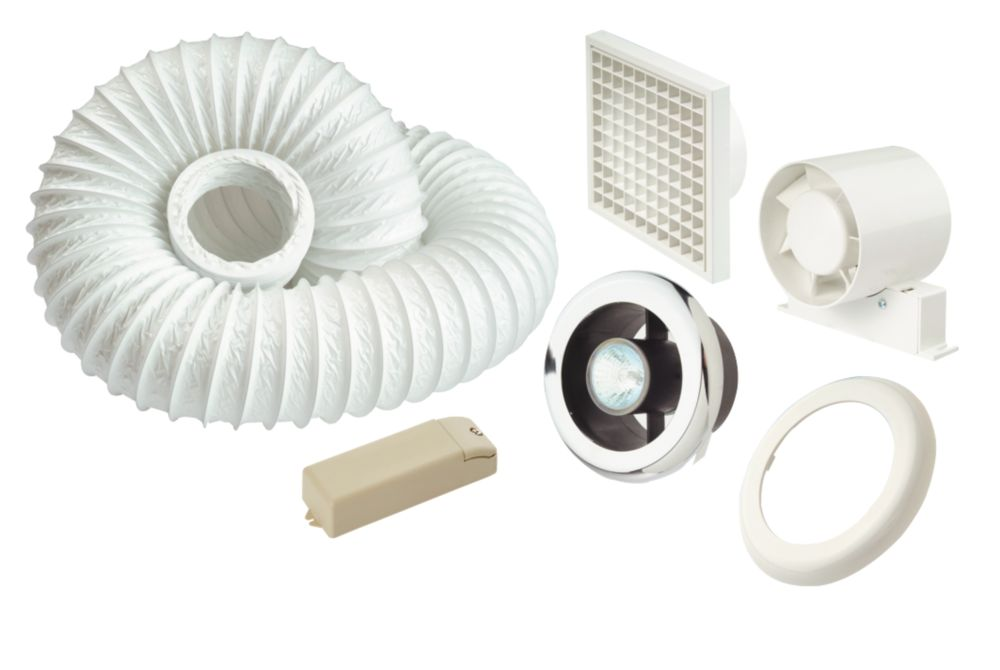 Manrose Shower Light & Extractor Fan Kit 100mm