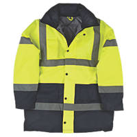 "Hi-Vis Padded 2-Tone Coat Yellow/Black X Large 47"" Chest"