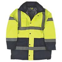 "Hi-Vis Padded 2-Tone Coat Yellow/Black X Large 47"" Chest"