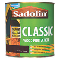 Sadolin Exterior Woodstain Translucent Matt Jacobean Walnut 1Ltr
