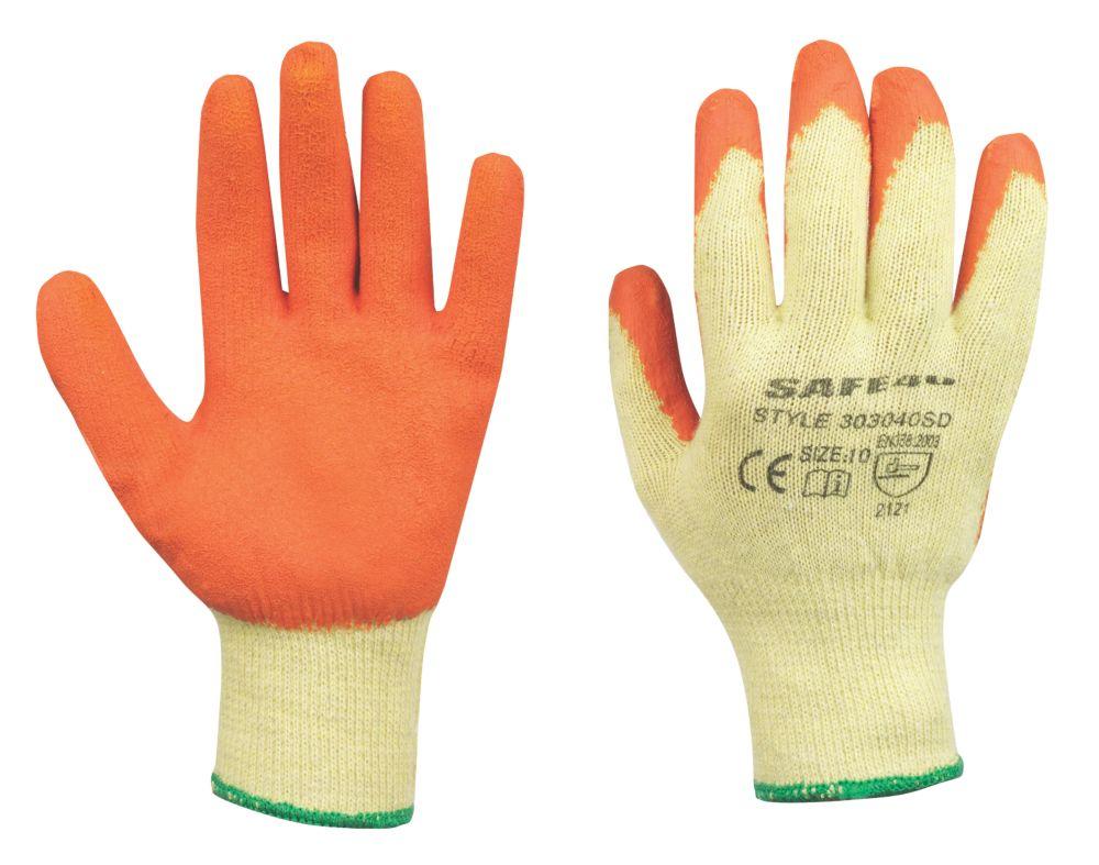 Safe 4U General Handling Builders Gloves Orange Medium