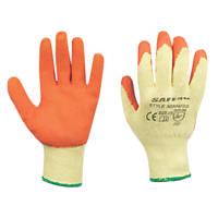 Safe 4U Builders Gloves Orange Medium