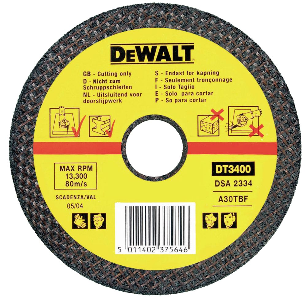 DeWalt 115 x 22.2 x 2.8mm Metal Cutting Disc