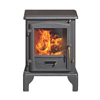 Valor Brunswick Black Solid Fuel Stove