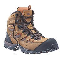 Hyena Eiger Comfort Safety Boots Brown Size 8