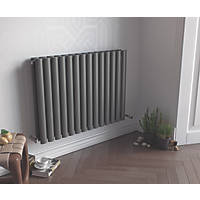 Ximax Fortuna Horizontal Double-Panel Designer Radiator Anthracite 600 x 1180mm