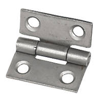 Eclipse Steel Fixed Pin Hinges Self-Colour 25 x 22mm 2 Pack