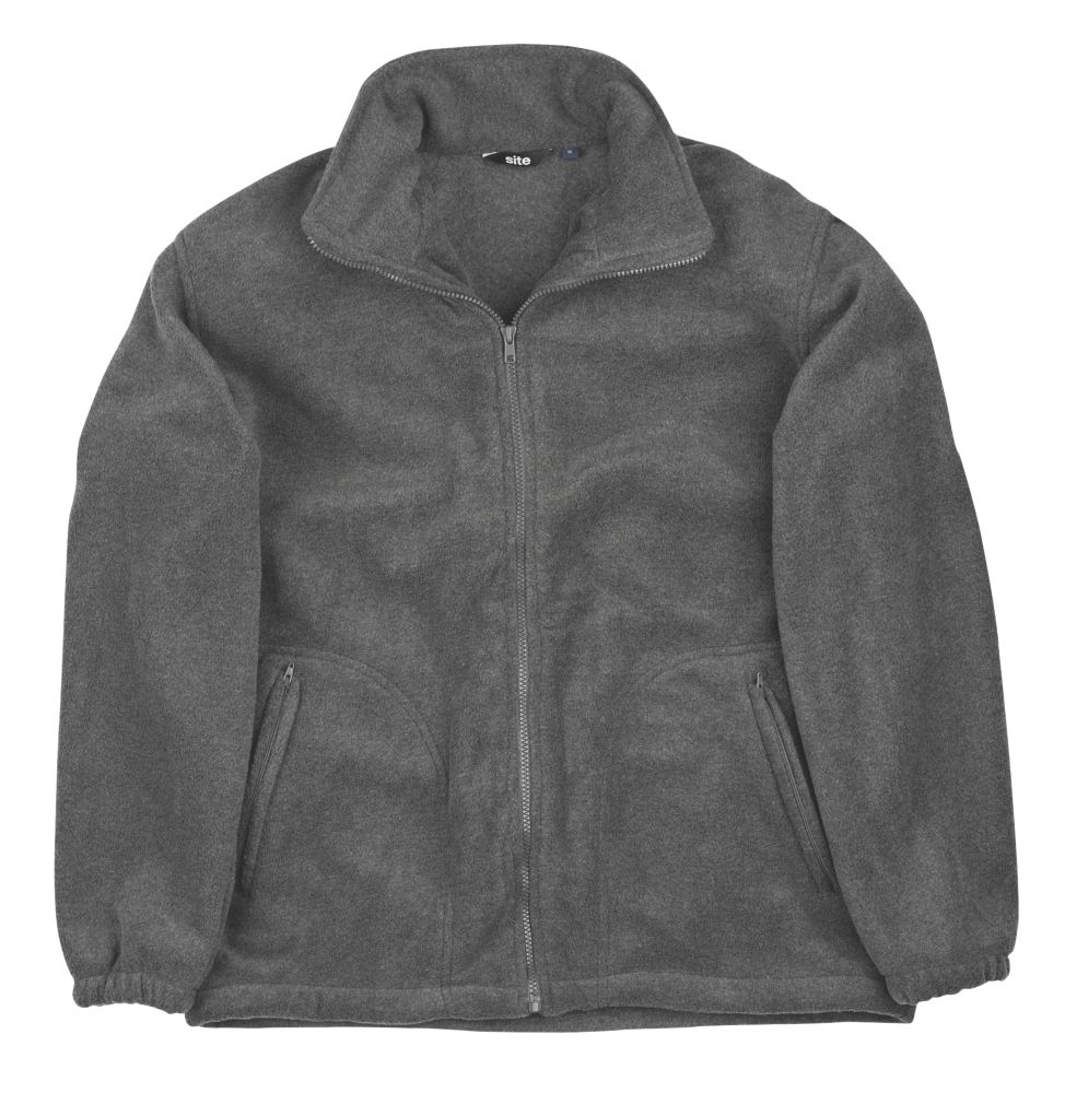 Site Oak Full-Zip Fleece Grey X Large 46-48""