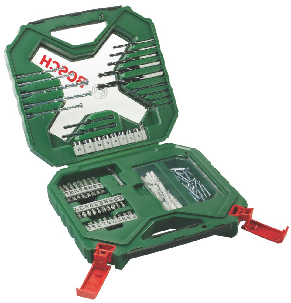 Bosch X-line Drill / Driver Bit Set Green 90Pcs