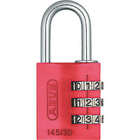 Abus Aluminium MyCode Light Combination Padlock Red 30mm