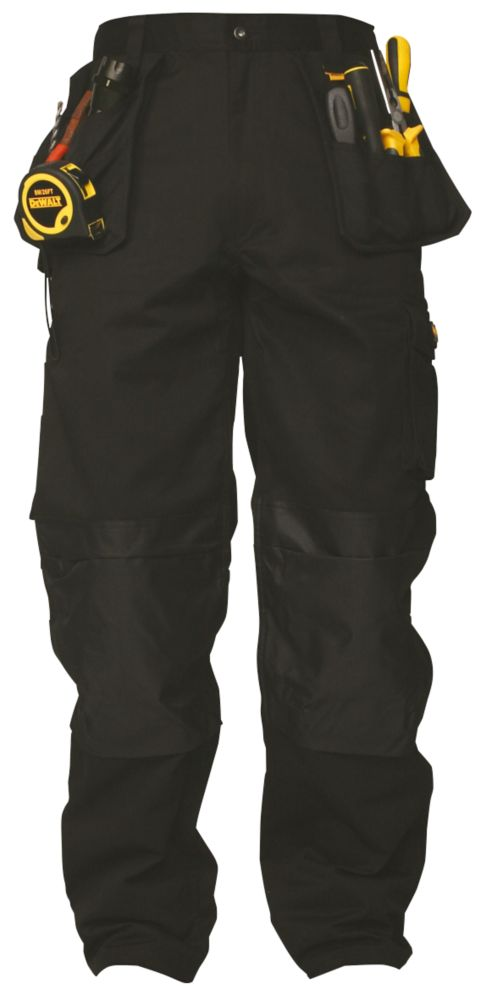 "DeWalt Multi-Pocket Black Work Trousers 32"" W 31"" L"