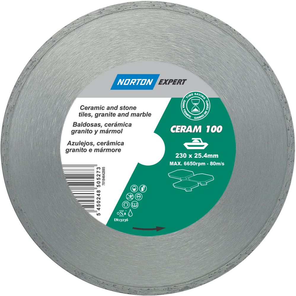 Norton Expert Classic Ceram Diamond Blade 230 x 25.4mm