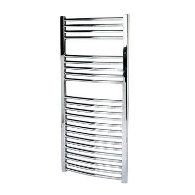 Kudox Curved Towel Radiator Chrome 500 x 1100mm 344W 1174Btu