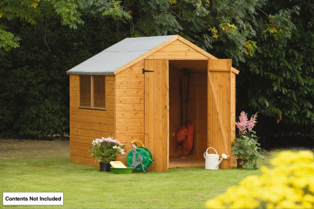 Forest Larchlap Shiplap Apex Shed 7 x 7 x 7' (Nominal)