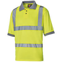 "Dickies SA22075 Hi-Vis Polo Shirt Saturn Yellow XX Large 54"" Chest"
