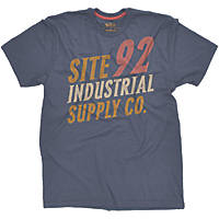 "Site Industrial T-Shirt Blue Large 42-44"" Chest"