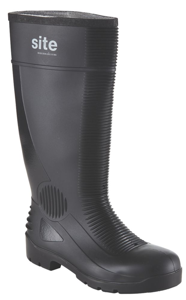 Site Trench Safety Wellington Boots Black Size 11