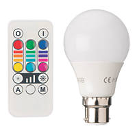 RGB & White LED GLS Colour-Changing Lamp BC 45lm 2.8W
