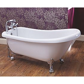 Traditional Acrylic Resin 2 TH 17mm Roll Top Bath by Unbranded